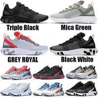 herren sportschuhmarken großhandel-nike react element 55 Undercover X Upcoming Herren Luxus Designer Sport Damen Navy Blau Fashion Brand Sneakers Sportschuhe