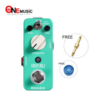 Wholesale mooer pedals free shipping for sale - Group buy Mooer Green Mile Overdrive Pedal Working Modes Full metal shell True bypass MU0327
