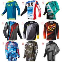 motosiklet yarış giysileri toptan satış-Motosiklet Ter Bez Uzun kollu Çabuk kuruyan Motosiklet Yarış Bisikleti Gömlek Motocross Giyim Off-road Sürme Suit Çeşitli Tarzı