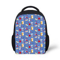 sacos de escola infantis venda por atacado-Personalizado Mochilas Escolares Mochilas Crianças Feliz Médico Padrão Crianças Mochilas Infantil Mochila Mochila Estudantes Livro Saco 2019