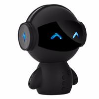 bluetooth hoparlörleri sevimli toptan satış-Sevimli Robot TV Karaoke Bluetooth Hoparlör M10 HIFI Akıllı-robot süper Bas Güç Bankası Karaoke için Taşınabilir kablosuz Stereo hoparlörler