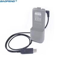 ingrosso caricabatterie per baofeng-ham radio Baofeng Cavo di ricarica USB con indicatore luminoso per Walkie Talkie BaoFeng UV-5R Estendi batteria BF-UVB3 Plus Radio di prosciutto Batetery