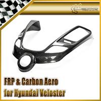 cuerpo de fibra de carbono al por mayor-Diseño del automóvil para la cubierta de la consola de radio de fibra de carbono Hyundai Veloster (tipo pegado)