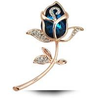ingrosso accessori di tulipano-6 colori disponibili monili eleganti strass Tulip Fiore Spilla Pin Donne Abbigliamento Accessori Spille Gioielli Bouquet per matrimonio
