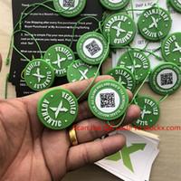 pc code großhandel-2019 OG QR Code Lager X Aufkleber StockX Karte Grüner runder Tag Kunststoff Verifiziert X Authentic Green Tag