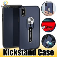 Wholesale metal cases for galaxy note online – custom Hybrid Armor Kickstand Phone Cases for Samsung S4 S5 S6 S7 S7 Note iPhone XS MAX XR X LG G7 Back Case izeso