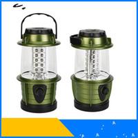 yeşil feneri satışı toptan satış-Led Kamp Lambası Çok Fonksiyonlu Taşınabilir Çoklu Ampuller Fener Yeşil Kırmızı Pratik Asılı Çalışma Işığı Sıcak Satış 10 5jbD1