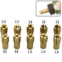 Wholesale tool collet resale online - 10pcs mm Three jaw Copper Drill Chuck Collet Clip Bit Set for Dremel Rotate Tool Electric Grinding Accessories