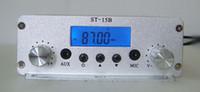 yayın vericisi toptan satış-1.5W / 15W stereo PLL FM vericisi 87-108MHz yayın yapan sadece ev sahibi