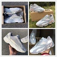 обувь для танцев оптовых-700 V2 Статическая Инерция Волна Бегун Kanye West Кроссовки Новый Дизайнер Светятся В Темноте Basf Спортивная Спортивная Обувь Размер 36-48