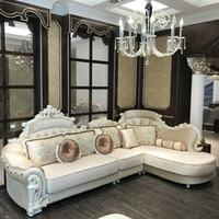 luxus wohnzimmermöbel großhandel-Europäische Luxus Wohnzimmer Sofa Set Möbel