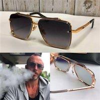 yeni stil lensler toptan satış-Yeni lüks erkek tasarım metal Vintage güneş gözlüğü moda stil kare çerçevesiz UV orijinal durumda olan 400 lens güneş gözlüğü