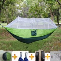 Wholesale pouch for car for sale – best 12 Colors cm Portable Hammock With Mosquito Net Single person Hammock Hanging Bed Folded Into The Pouch For Travel CCA6841