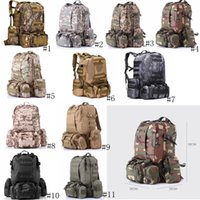 Wholesale camouflage beds for sale - Group buy Military Tactical Backpack Oxford Camouflage Travel Backpacks Outdoor Camping Trekking Bag Waterproof Army Rucksack Storage Bags GGA3129
