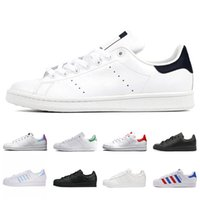 amoureux des stars achat en gros de-Adidas Superstar smith stan amateurs de mode Stan Smith Superstar Crochet Boucle Hommes Femmes Garçons Et Filles Chaud Super Star Designer Casual Chaussures Formateurs Sneakers