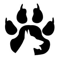 pegatinas de pata de vinilo al por mayor-15 * 15.7 CM Paw Points Dog Animal Vinyl Deal Cartoon Etiqueta engomada del coche Negro / Plata CA1035