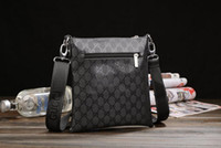 Wholesale chinese bag designers resale online - fashion hot spot high men s leather bag famous brand designer Chinese cross body bag designed for men s one shoulder bag popu