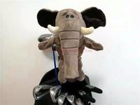 elefante mascote venda por atacado-Animal dos desenhos animados Elefante Golf Driver Headcover Capa de Golfe Artigos Esportivos Clube Acessórios Mascote Novidade Cue Presente
