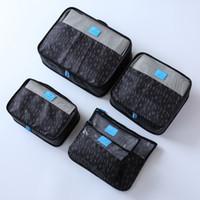 Wholesale travel bag packing cube resale online - New set Women Travel Luggage Bag Zipper Big Capacity Waterproof Nylon Organizer Packing Bag Cube Ladies Travel Bags