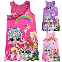 disfraces para muñecas al por mayor-2019 New Summer Colorful Lol Dress Dolls Girl Fiesta de cumpleaños Vestido de Halloween Navidad Niño niña Cosplay Costume Kids Lol