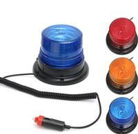 ingrosso magnetico luce lampeggiante blu-LED 12V 10W del camion avvertimento dell'automobile magnetica Flash Light Beacon Strobe lampada di emergenza Blu Giallo Rosso