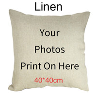 Wholesale customized pillows resale online - Fuwatacchi Cushion Cover cm cm Personal Customize Life Photo Customization Decoration Throw Pillow Covers Pillowcase