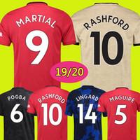 jerseys de fútbol unidos al por mayor-Camiseta de fútbol Tailandia FC Manchester United soccer jersey football shirt 2019 2020 POGBA LINGARD RASHFORD MAGUIRE chandal de fútbol MARCIAL UtD 18 19 20 camisetas de MAN