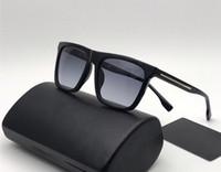 işyeri vakaları toptan satış-Yeni Moda Erkekler Tasarımcı Güneş Gözlüğü Kare Çerçeve Güneş Gözlükleri erkekler Basit Atmosfer iş Stil Gözlük UV400 Koruma Ile Kılıf