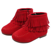 Wholesale korean children boy shoes for sale - Group buy Kids Winter Korean Baby Girls Tassels Martin Warm Boots Solid Color Cashmere Rubber Children s Shoes For Years