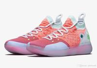 mulheres kevin pendant basketball shoes venda por atacado-Hot KD 11 EYBL crianças homens mulheres loja de sapato de Basquete Qualidade Superior Kevin Durant novos sapatos frete grátis US4-US12