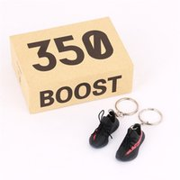 Wholesale paired key chain for sale - Group buy 3D Sneaker Keychains a Pair Sports Shoes With Box Right Left Feet Key Chains For Bag Wallet Cell Phone Straps Backpack DHL
