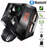 Wholesale song mp3 player for sale - Group buy Car Kit Hands free Wireless Bluetooth FM Transmitter LCD MP3 Player USB Chargesr Support charge while listening to songs