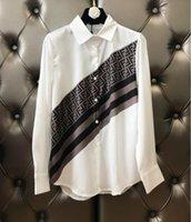 chemisiers achat en gros de-manches longues mince coupe-vent femme chemise classique chemisier à logo imprimé chemises femmes cardigan