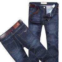 marca famosa homens de algodão jeans calças venda por atacado-calças jeans novas italy marca de jeans dos homens calças de brim algodão moda das calças masculinas famosa marca jeans clássico