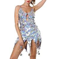 свадебные платья оптовых-2019 Dance Dress Женщины Sexy Dress Deep V Sequin Ночной клуб Latin Dance Ночной клуб для женщин Sexy Latin