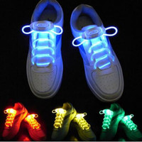 led yanıp sönen ayakkabı dantel fiber optik toptan satış-2 Parça = 1 Çift LED Spor Ayakkabı Danteller Aydınlık Flaş Işık Up Glow Sopa Yanıp Sönen Askı Fiber Optik Ayakabı Parti Kulübü 2019 Promosyon
