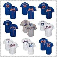 jerseygaard mayo toptan satış-Özel Erkek New Jersey York oyuncuları Pete Alonso Michael Conforto Nuh Syndergaard Todd Frazier NY Mets Baseball Formalar örme