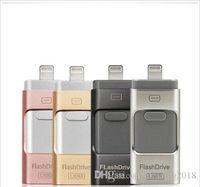 kalem sürücü markaları toptan satış-Marka SB flash sürücü iphoneU Disk 3 in 1 Kalem Sürücü USB Flash Sürücü U Disk Memory Stick Apple iphone 5 5 S 6 6 s artı iPad OTG Pendrive