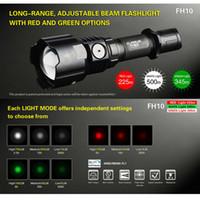 ingrosso luce bianca zoomabile-Torcia KLARUS FH10 Zoomable tattica caccia Torcia verde rosso bianco LED