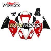 mercado de accesorios de yamaha al por mayor-Blanco Negro Casquillos Rojos para Yamaha YZF1000 R1 2000 2001 Monturas de cuerpo de bicicleta completas R1 00 01 Aftermarket Motocicleta OEM Inyección Trabajo de carrocería