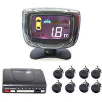 Wholesale monitor for parking sensors for sale - Group buy 8 Sensors Parking LCD Display Monitor Buzzer Car Parking Sensor Auto Reverse Backup Radar Assistance System Colors for Choice