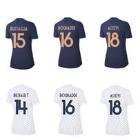 camiseta copa mundial de fútbol francia al por mayor-Camisetas de fútbol de Francia 2019 BOUHADDI ABILY HENRY Camisetas de fútbol de la Copa Mundial Femenina camisetas de localidades remotas de fútbol maillot equipe de france número de nombre personalizado