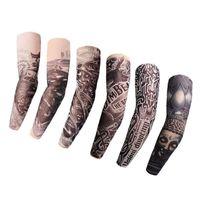 ingrosso il trasporto libero del tatuaggio falso-Manicotti per tatuaggi temporanei in nylon elastico e multifunzione disegni Tatoo per le donne di uomini freddi