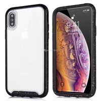 abs cover case оптовых-Корпус Ударопрочного жесткого пластик + мягкая TPE для IPhone XR X XS MAX 8 7 Hybrid Dual Color Phone Cover