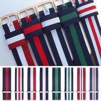 армейские наручные часы оптовых-NEW 18mm 20mm Army Sports nato fabric Nylon watchband Buckle belt For  Band For 007 James bond Watch Strap