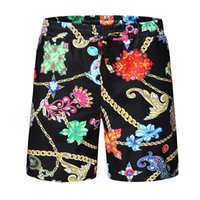 Wholesale mens chain length for sale - Group buy Mens Printed Luxury Beach Shorts Flower Chains Designer Casual Summer Shorts Pantalones Hommes