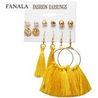 orelhas imagens venda por atacado-Brincos de borla de moda feminina conjunto orelha decoração acessórios casuais como imagens