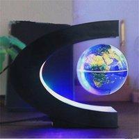 yüzen manyetik havaya uçma toptan satış-Manyetik Kaldırma Dünya Gece Işık Yüzen Dünya Haritası Top Lamba Serin Aydınlatma Ofis Ev Dekorasyon Karasal Küre lamba