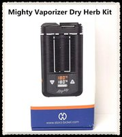 Wholesale personal herb vaporizer resale online - 2019 Mighty Vaporizer Dry Herb Kit Handheld Personal with aluminium nail Pocket Mighty Mod With Temperatuer adjustable vaporizer Box Mod