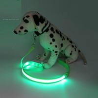 Wholesale led dog collar lights for sale - Nylon LED Light Up Dog Leash Night Safety LED Flashing Glow In Dark Dog Collar Pet Supplies Drawing Small Lead LED Dog Leash
